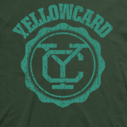 Layout da camiseta da banda Yellowcard