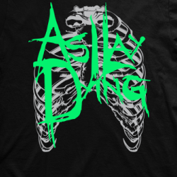 Layout da camiseta da banda As I Lay Dying