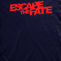 Layout da camiseta da banda Escape The Fate