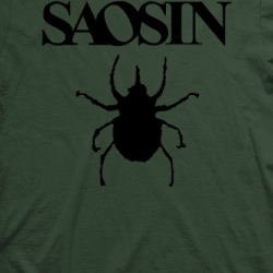 Layout da camiseta da banda Saosin