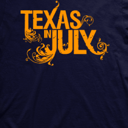 Layout da camiseta da banda Texas In July