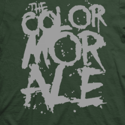 Layout da camiseta da banda The Color Morale