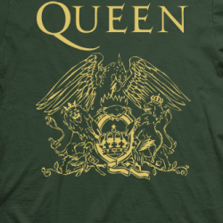 Layout da camiseta da banda Queen