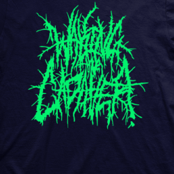Layout da camiseta da banda Waking The Cadaver
