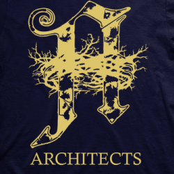 Layout da camiseta da banda Architects