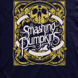 Layout da camiseta da banda The Smashing Pumpkins