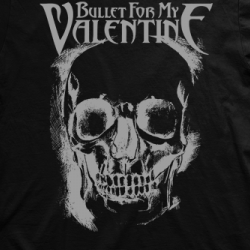 Layout da camiseta da banda Bullet For My Valentine
