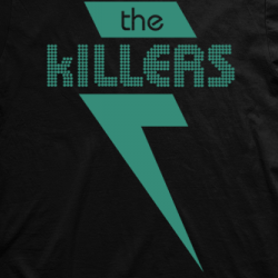 Layout da camiseta da banda The Killers