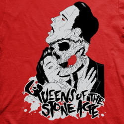 Layout da camiseta da banda Queens of the Stone Age
