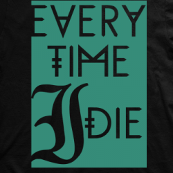 Layout da camiseta da banda Every Time I Die