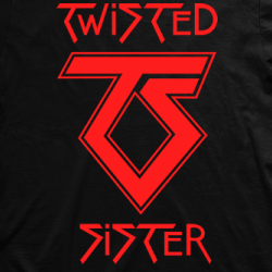 Layout da camiseta da banda Twisted Sister