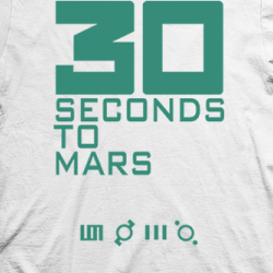 Layout da camiseta da banda Thirty Seconds To Mars