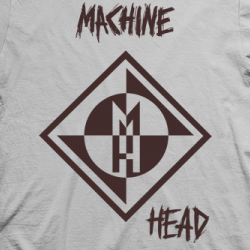 Layout da camiseta da banda Machine Head