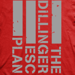 Layout da camiseta da banda The Dillinger Escape Plan