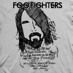 Layout da camiseta da banda Foo Fighters