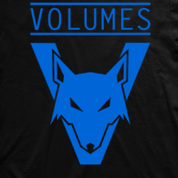 Layout da camiseta da banda Volumes