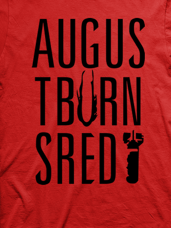 Layout da camiseta da banda August Burns Red