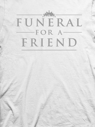 Layout da camiseta da banda Funeral For A Friend