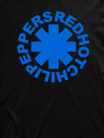 Layout da camiseta da banda Red Hot Chili Peppers