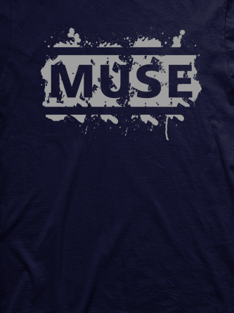 Layout da camiseta da banda Muse