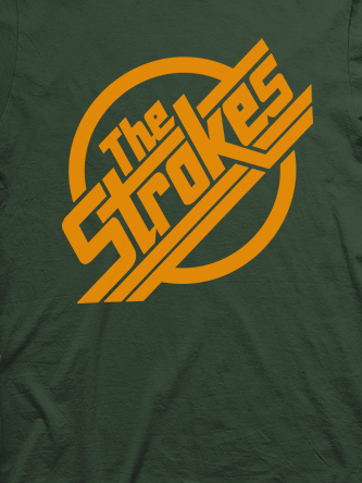 Layout da camiseta da banda The Strokes