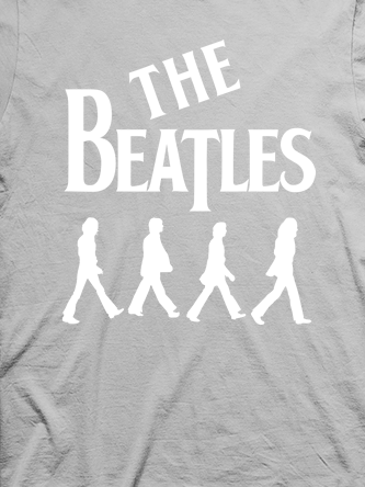Layout da camiseta da banda The Beatles