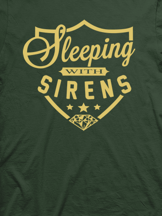 Layout da camiseta da banda Sleeping With Sirens