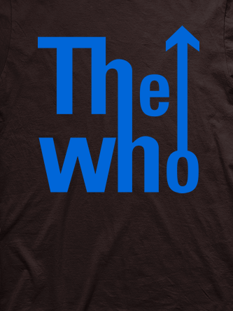 Layout da camiseta da banda The Who