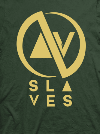 Layout da camiseta da banda Slaves