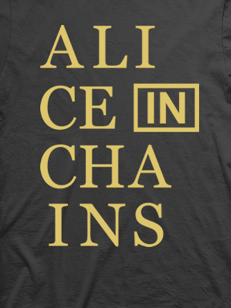 Layout da camiseta da banda Alice In Chains