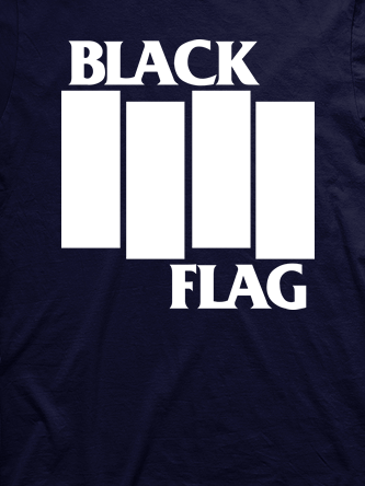 Layout da camiseta da banda Black Flag