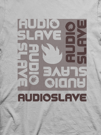 Layout da camiseta da banda Audioslave