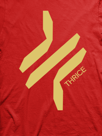 Layout da camiseta da banda Thrice