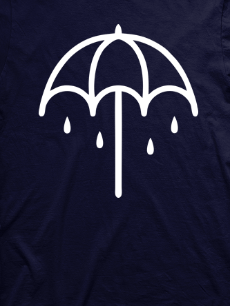 Layout da camiseta da banda Bring Me The Horizon