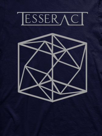 Layout da camiseta da banda Tesseract