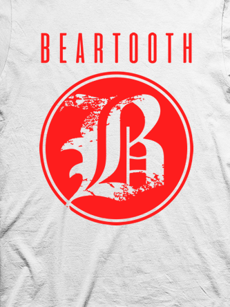 Layout da camiseta da banda Beartooth