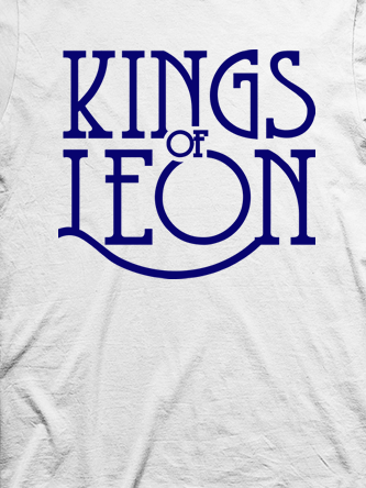 Layout da camiseta da banda Kings of Leon