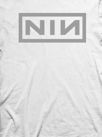 Layout da camiseta da banda Nine Inch Nails