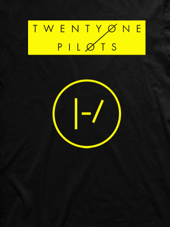Layout da camiseta da banda Twenty One Pilots