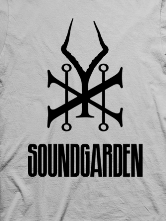 Layout da camiseta da banda Soundgarden
