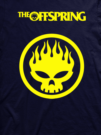 Layout da camiseta da banda The Offspring