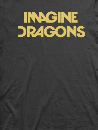 Layout da camiseta da banda Imagine Dragons