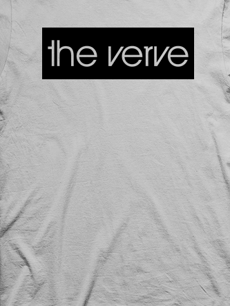 Layout da camiseta da banda The Verve