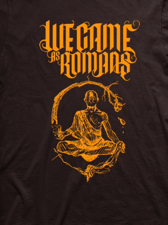 Layout da camiseta da banda We Came as Romans